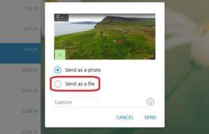 Можно ли отправить фото в Телеграм