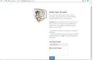 Удалить аккаунт Телеграм с компьютера