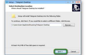 Правила установки Telegram для Windows 7