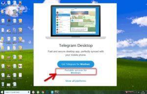"Использование ""Телеграм"" на Windows XP"