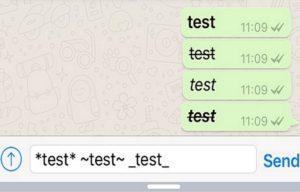 Способы зачеркивания теста в Телеграм
