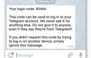 Почему пришел код в Телеграм без запроса