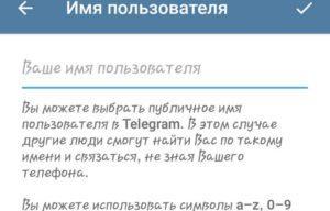Как написать юзернейм в мессенджере Telegram